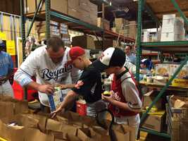 Royals designated hitter Billy Butler is challenging local young ballplayers to donate food or money for the Bishop Sullivan Center throughout the month of May as part of the Hit-It-A-Ton Youth League Challenge.