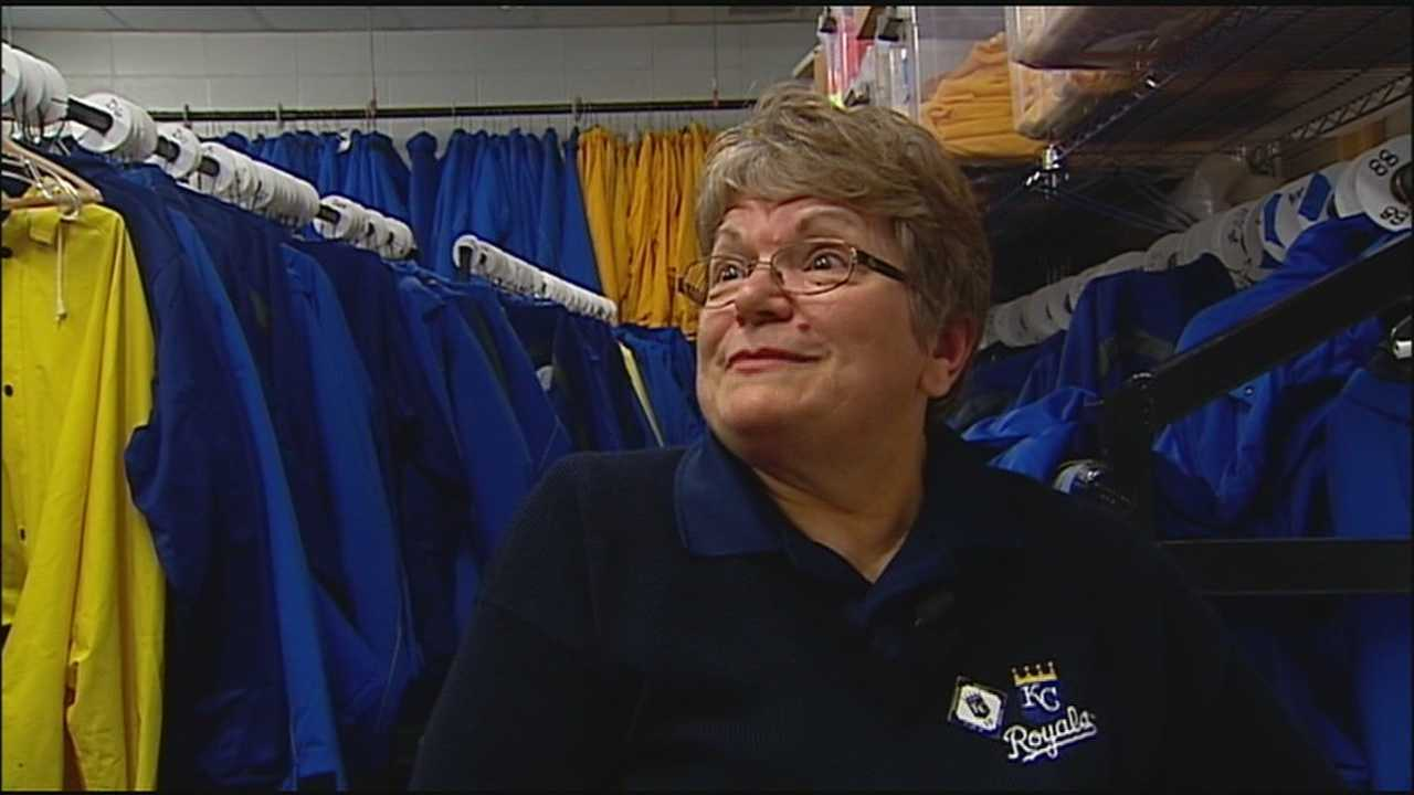 Bev Vratney, the longtime on-site seamstress for the Kansas City Royals, has been keeping the players, umpires and staff at Kauffman Stadium all sewn up for nearly twenty years.