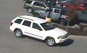 A suspect vehicle connected to catalytic converter thefts in Olathe, Kan.