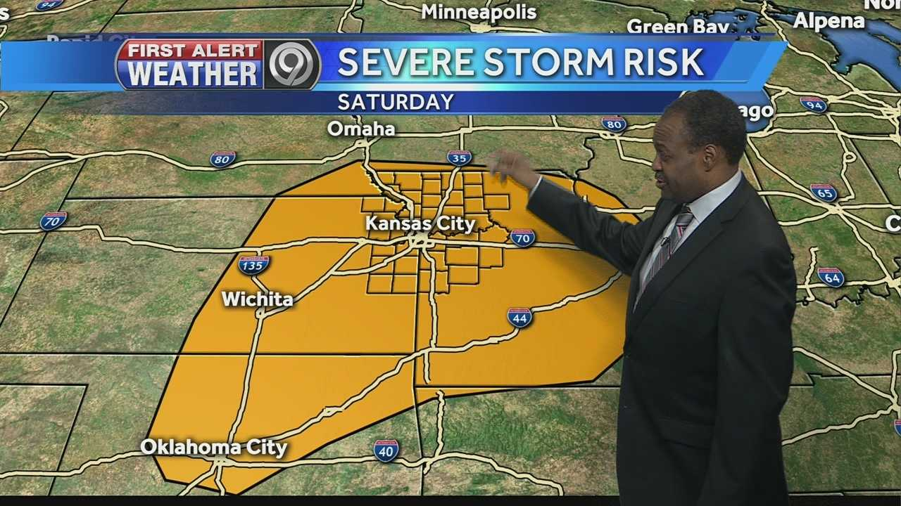 KMBC's Bryan Busby is tracking the threat of possible severe storms this weekend.