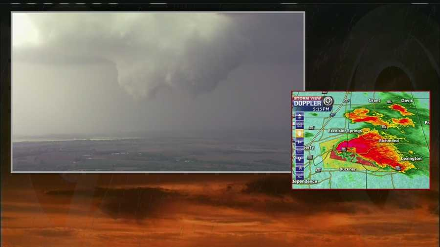 Images from NewsChopper 9 HD of a tornado that touched down near Missouri, City, Mo., on Saturday afternoon.