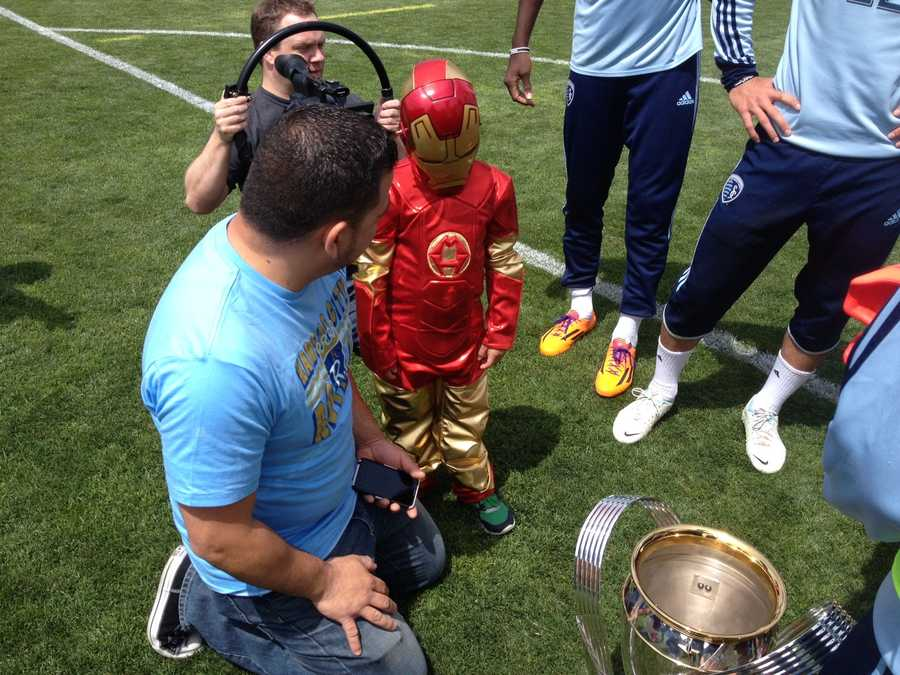 Muchacho de Hierro helps recover Sporting Kansas City's MLS Cup from the clutches of KC Cucaracha on Friday.