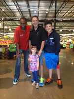 The Garcia family stopped to say hello to us at the 500 NE Barry Road Price Chopper.