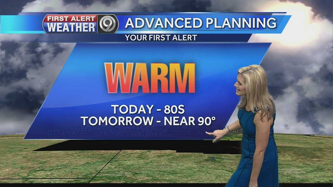 KMBC's Erin Little says it'll get hot over the next few days before rounds of storms and rain build in.