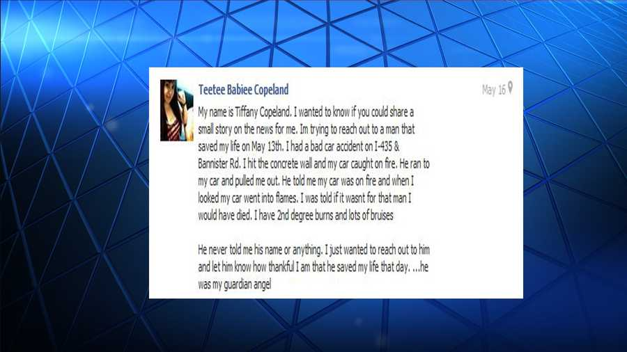 Before Tiffany Copeland's story made it onto TV, it began with a message to KMBC 9 News Facebook page.