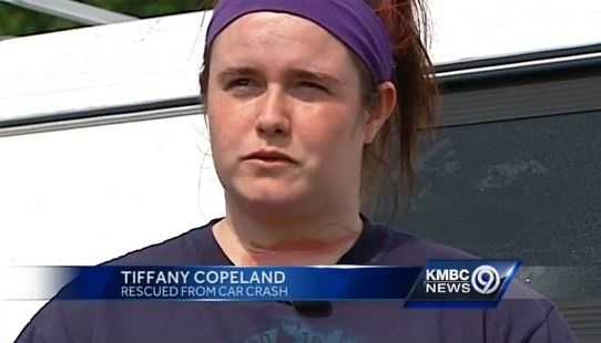 "Tiffany Copeland says she just wants to tell the mystery man ""thank you."""
