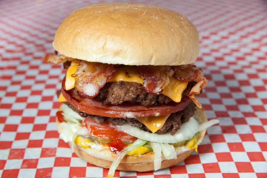 Grandstand Burgers at 4942 Merriam in Shawnee, KS.