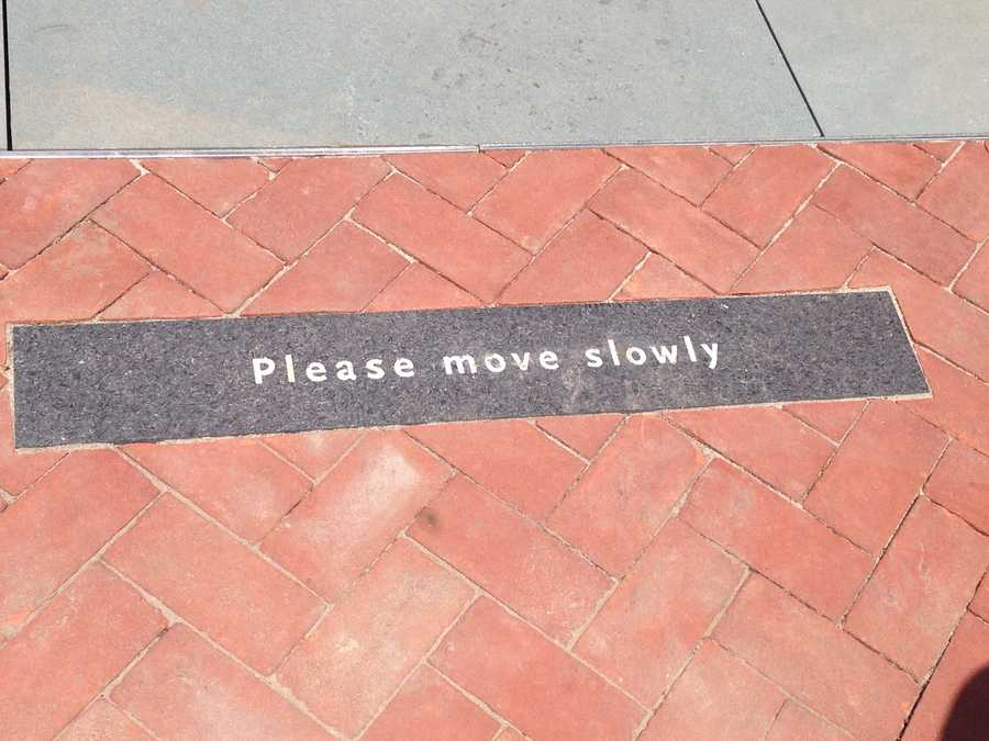 """The Nelson-Atkins Museum of Art cautions visitors to """"move slowly"""" as they visit the new Glass Labyrinth."""