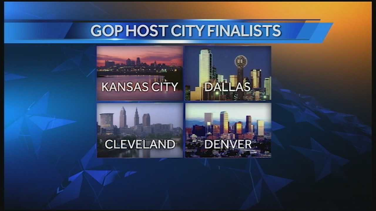 The Republican National Committee has narrowed its list of prospective host cities for the 2016 Republican National Convention to four, and Kansas City is among the finalists.