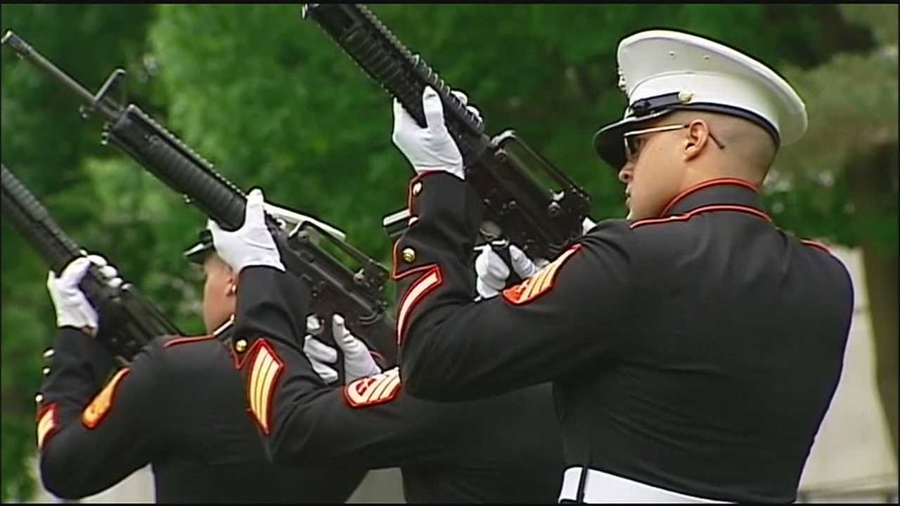 Image Marines at Mount Moriah cemetary