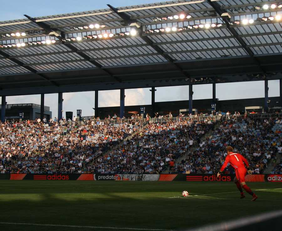 Eric Kronberg and Sporting KC kicks off an important matchup against an Eastern Conference foe, the New York Red Bulls.