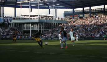 Sporting KC defended a 1-0 lead early after. The team kick-started its night with a goal in the seventh minute.