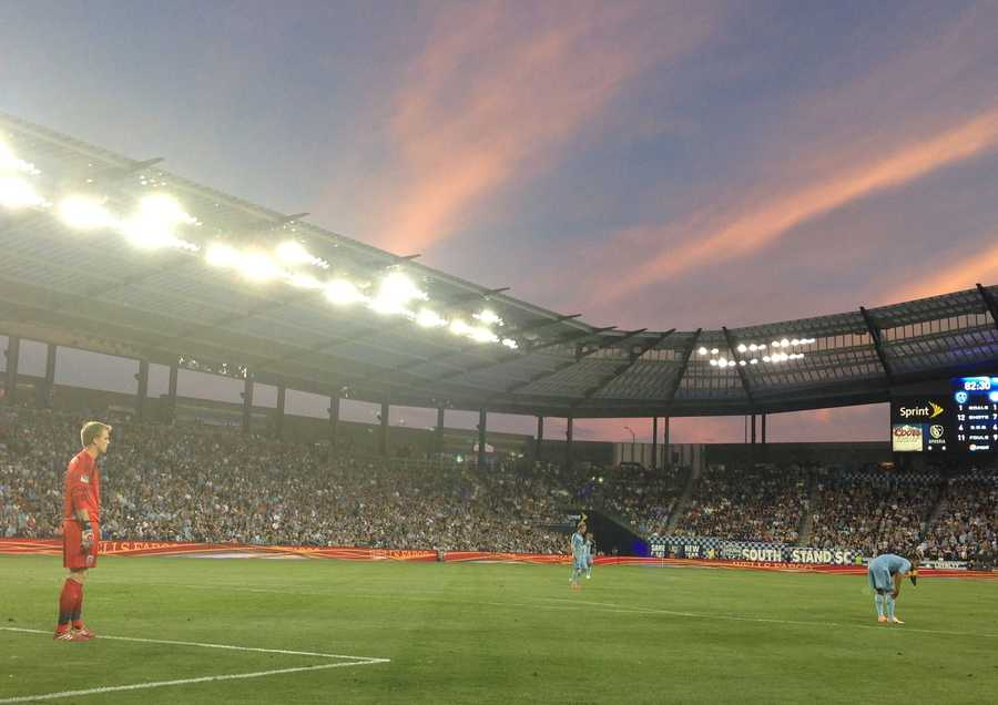 The sun was setting on Sporting KC's chance to gain a lead in this match.