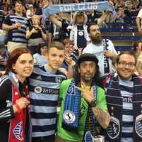 Some familiar friends from Wichita were #KMBCeen Tuesday night in the Cauldron.