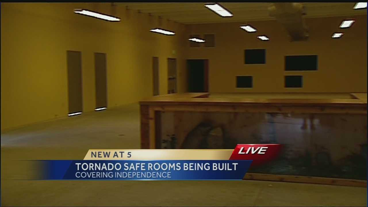 Independence is working to build two safe rooms that can offer protection to 800 people in case of an EF5 tornado.