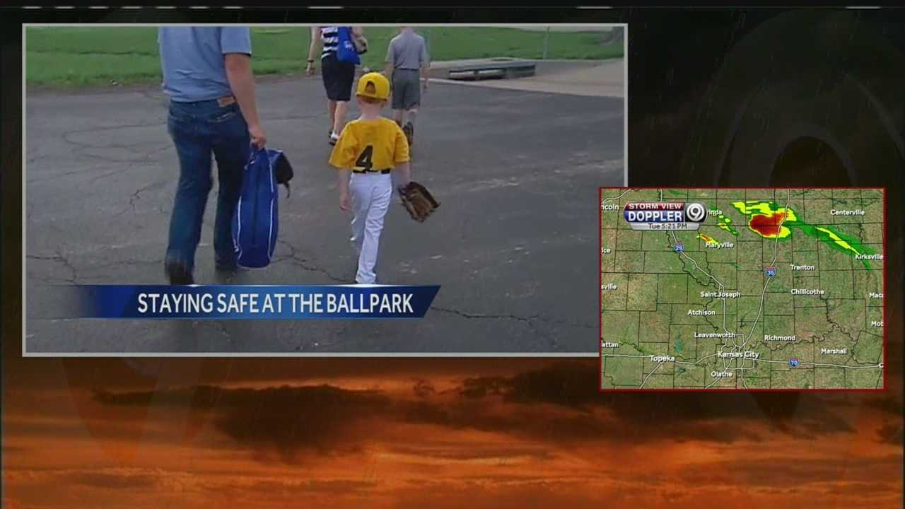 Despite concerns that severe storms could develop across the Midwest on Tuesday evening, many people are trying to get in games at baseball diamonds.