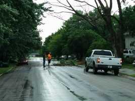 Wind damage in Edgerton, Kansas