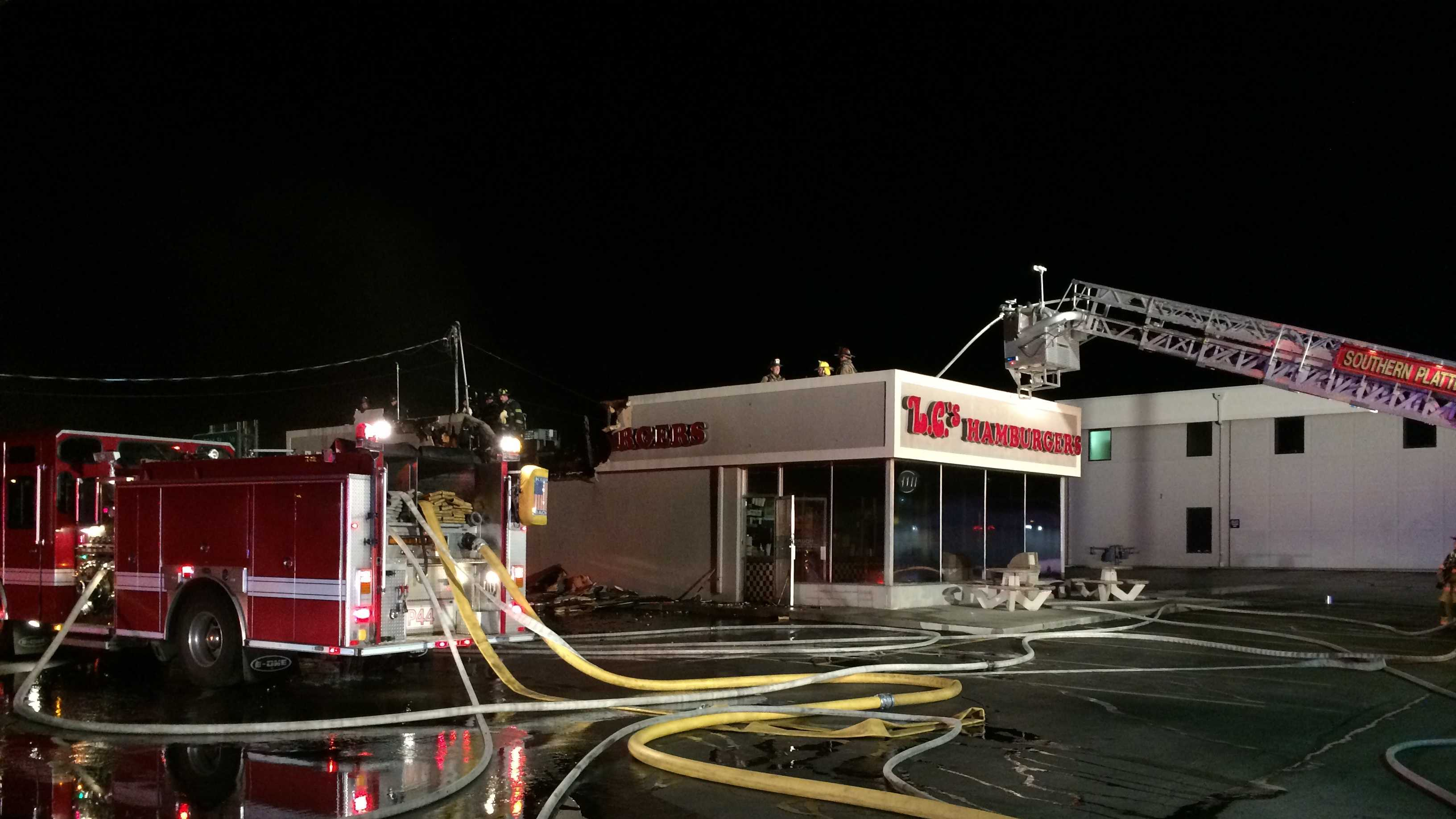 LC's Hamburgers fire