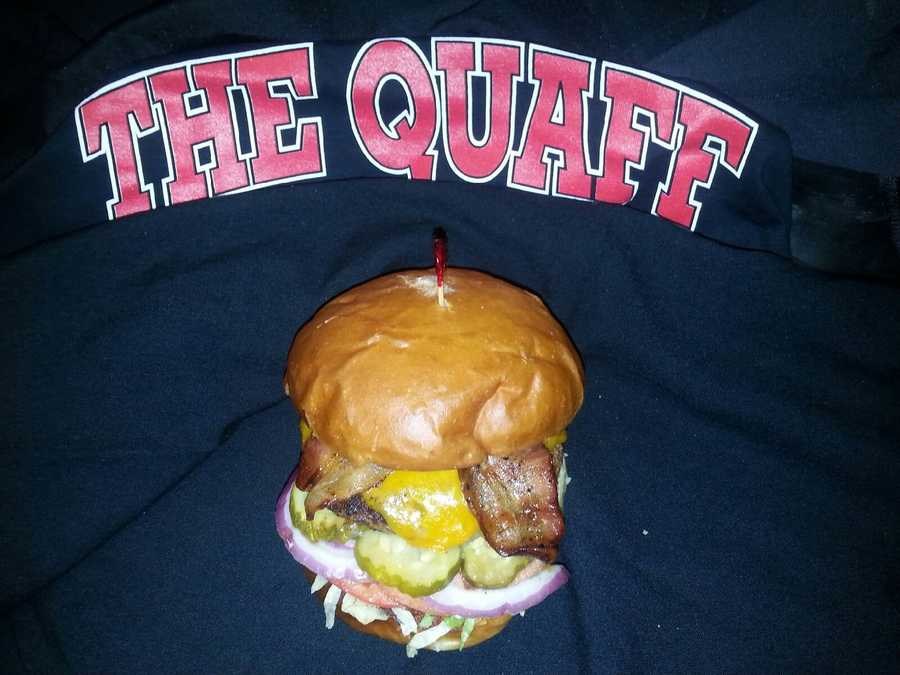 Kris Ketz gave this burger a shout-out on the air. It's the Quaff burger. 1010 Broadway St, Kansas City, Missouri