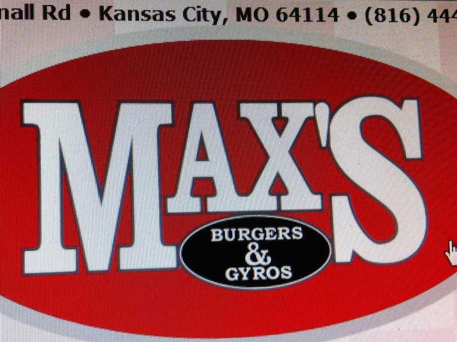 Max's Burgers & Gyros, 8240 Wornall Road, Kansas City, Missouri.