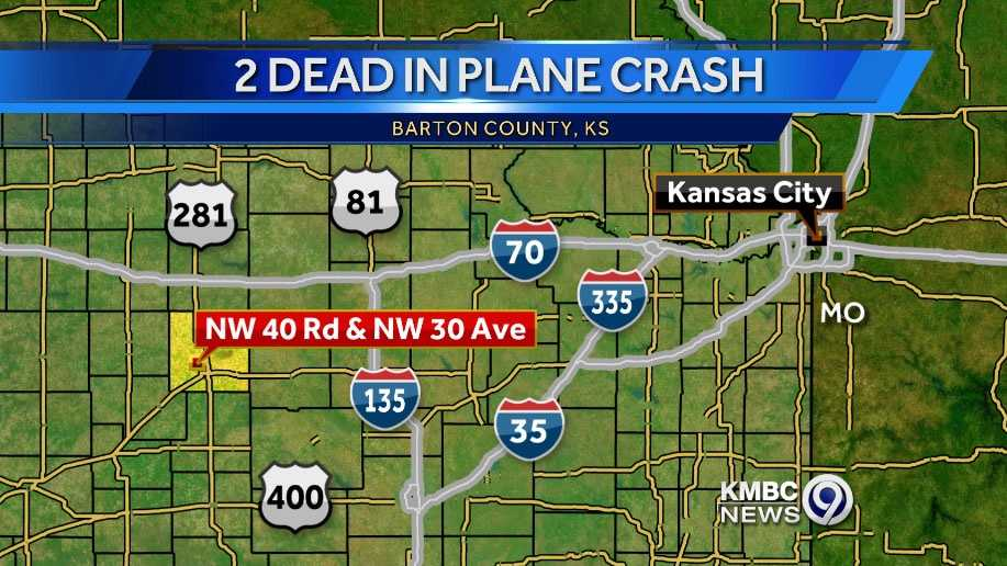 Image Central Kansas plane crash map