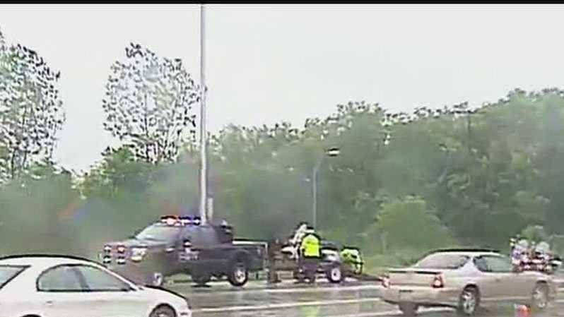Motorcycle officer injured in wreck