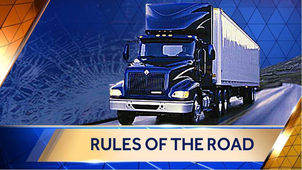 Image Rules of the road for truckers graphic