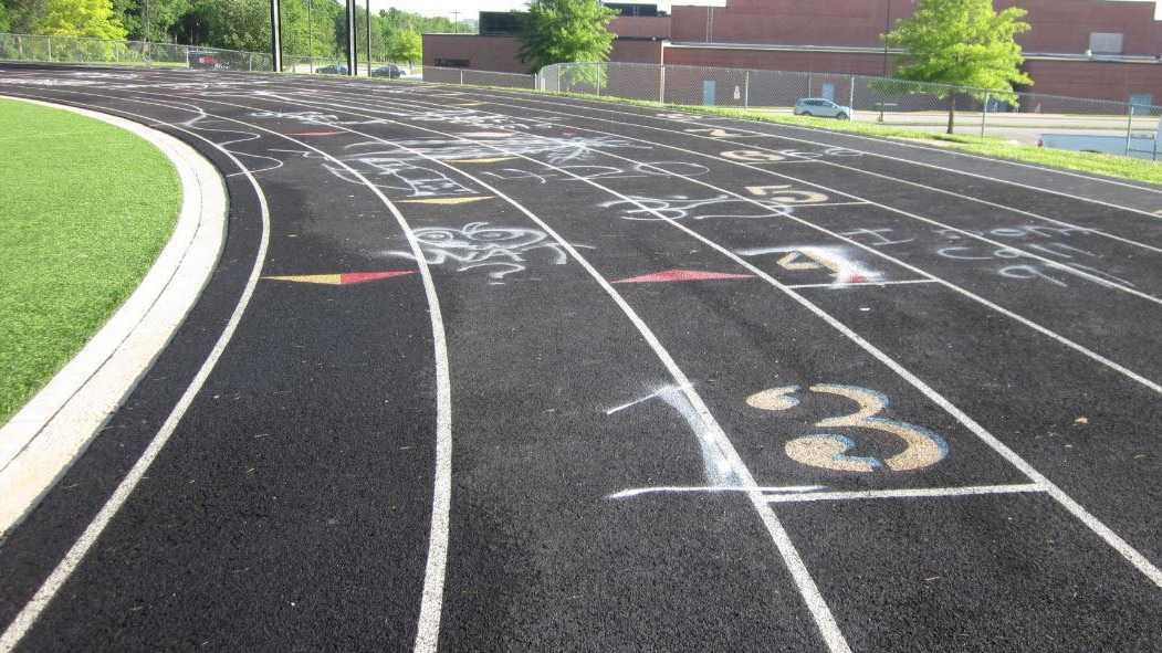 Olathe East vandalism 1