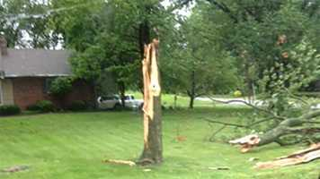 Storm damage near 95th Street and Wornall Road