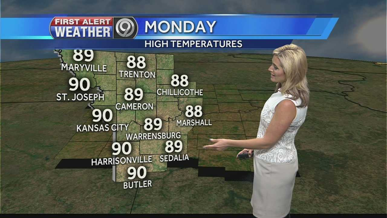 KMBC's Erin Little tells us how hot it'll get this week and when we could see some rain again.