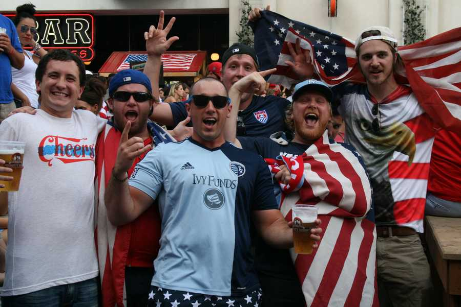 A colorful mixture of SportingKC, red, white and blue were on display.