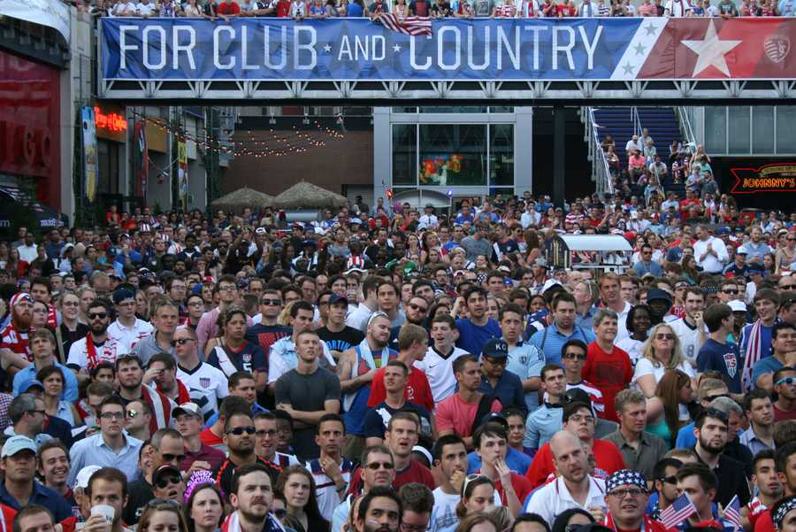 U.S. Soccer delivers for these eager fans and takes the 2-1 lead with a late goal.
