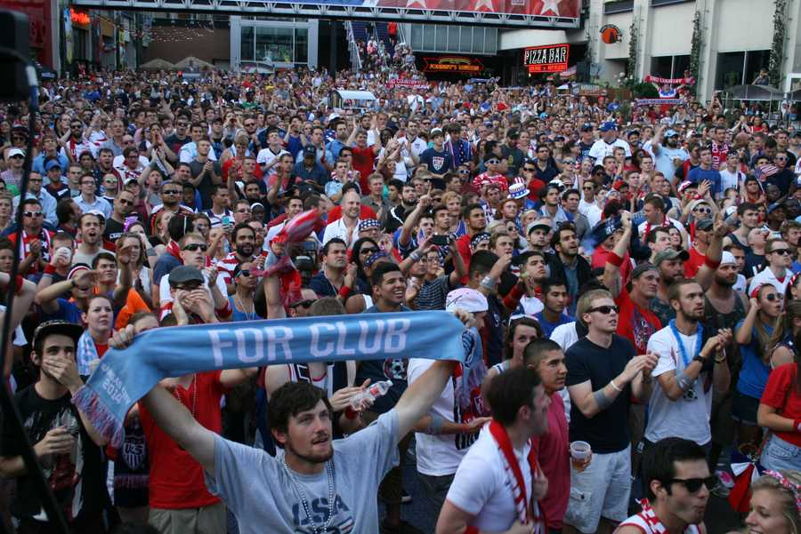 SportingKC fans erupted with applause as Graham Zusi approached midfield to report into the game.