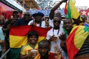 Ghana fans represented well with a 1-1 tie towards the late stages of the World Cup match.