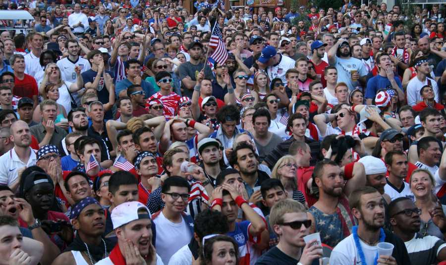 U.S. Soccer started the game with a quick 1-0 lead, but it wasn't an easy watch for fans at the Power and Light.