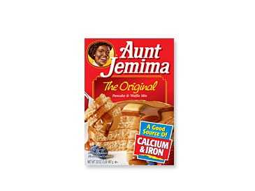 In 1889 in St. Joseph, Missouri, Aunt Jemima pancake flour became the first ready-mix food introduced commercially.