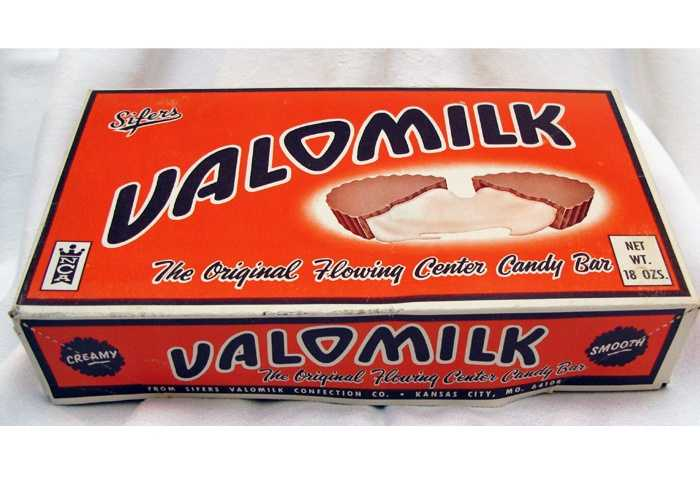 Valomilk was invented by accident in 1931 in the Kansas City area when a worker added too much vanilla to a batch of marshmallows. The creation was later dipped into milk chocolate