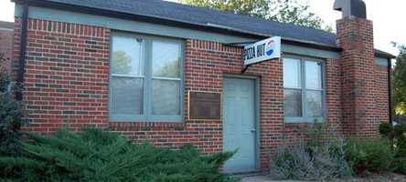 Brothers Frank and Dan Carney started Pizza Hut in 1958 in Wichita, Kansas. This is the picture of the original Pizza Hut near the Wichita State University campus.