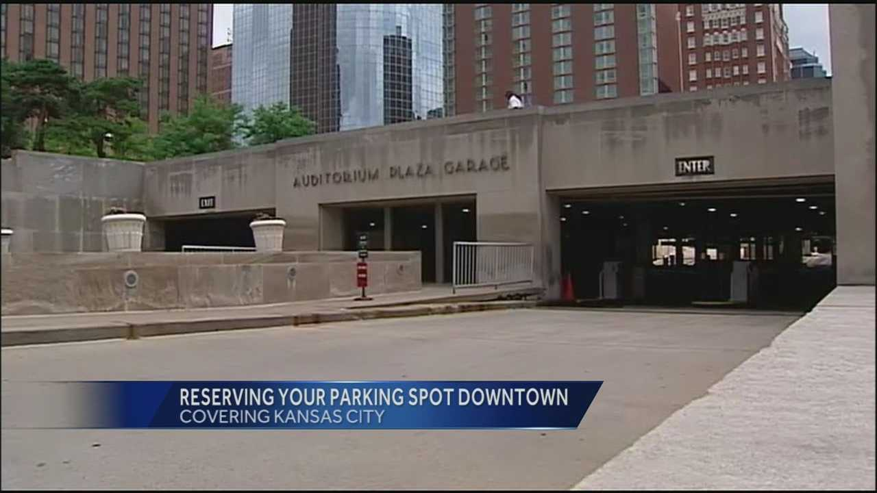 Kansas City is looking into the idea of letting downtown visitors reserve parking spaces in city garages when they come to attend events.