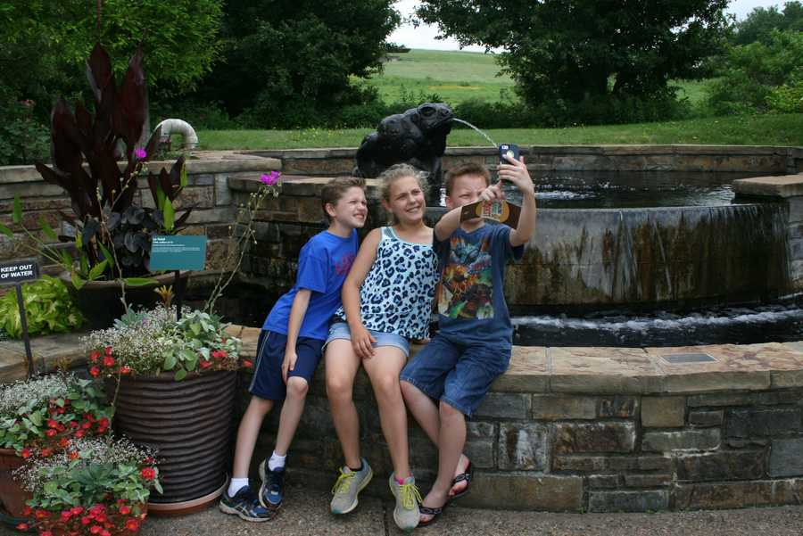 """Powell Gardens invites you to take a """"selfie"""" by your favorite frog #GardensGoneWild."""