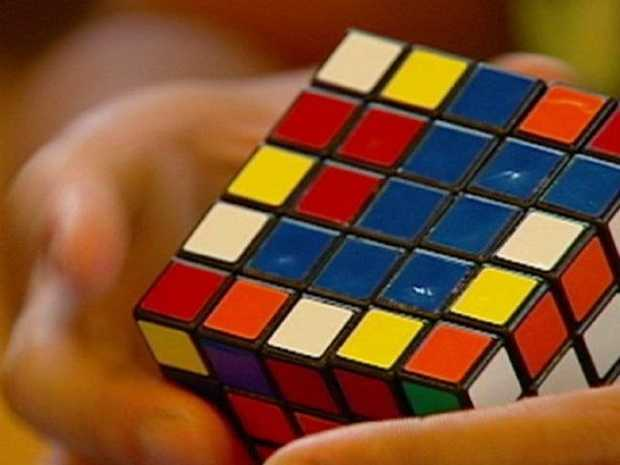 People were trying to solve the Rubik's Cube.