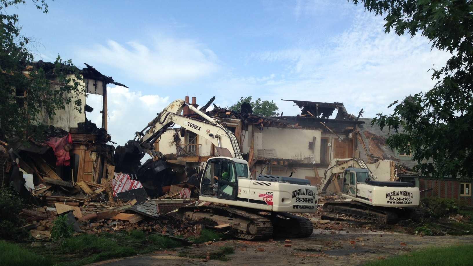 Garney Mansion demolition