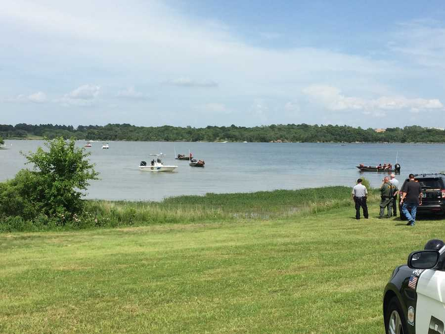 Authorities said that several people were trying to swim from one shore to another when one swimmer disappeared in the water.