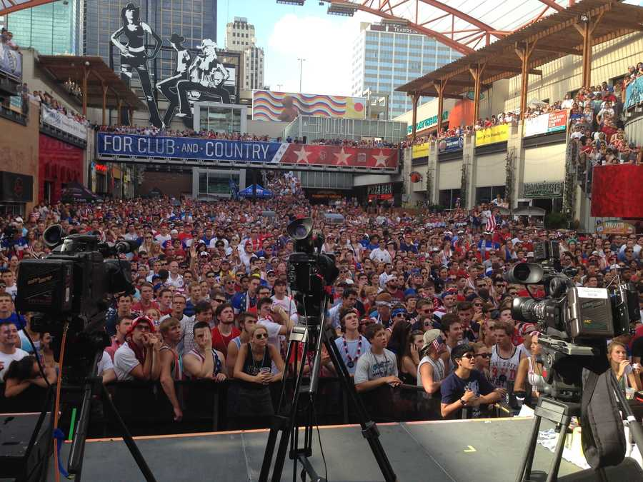 ESPN cameras were in Kansas City as one of four cities nationally to showcase American fans.