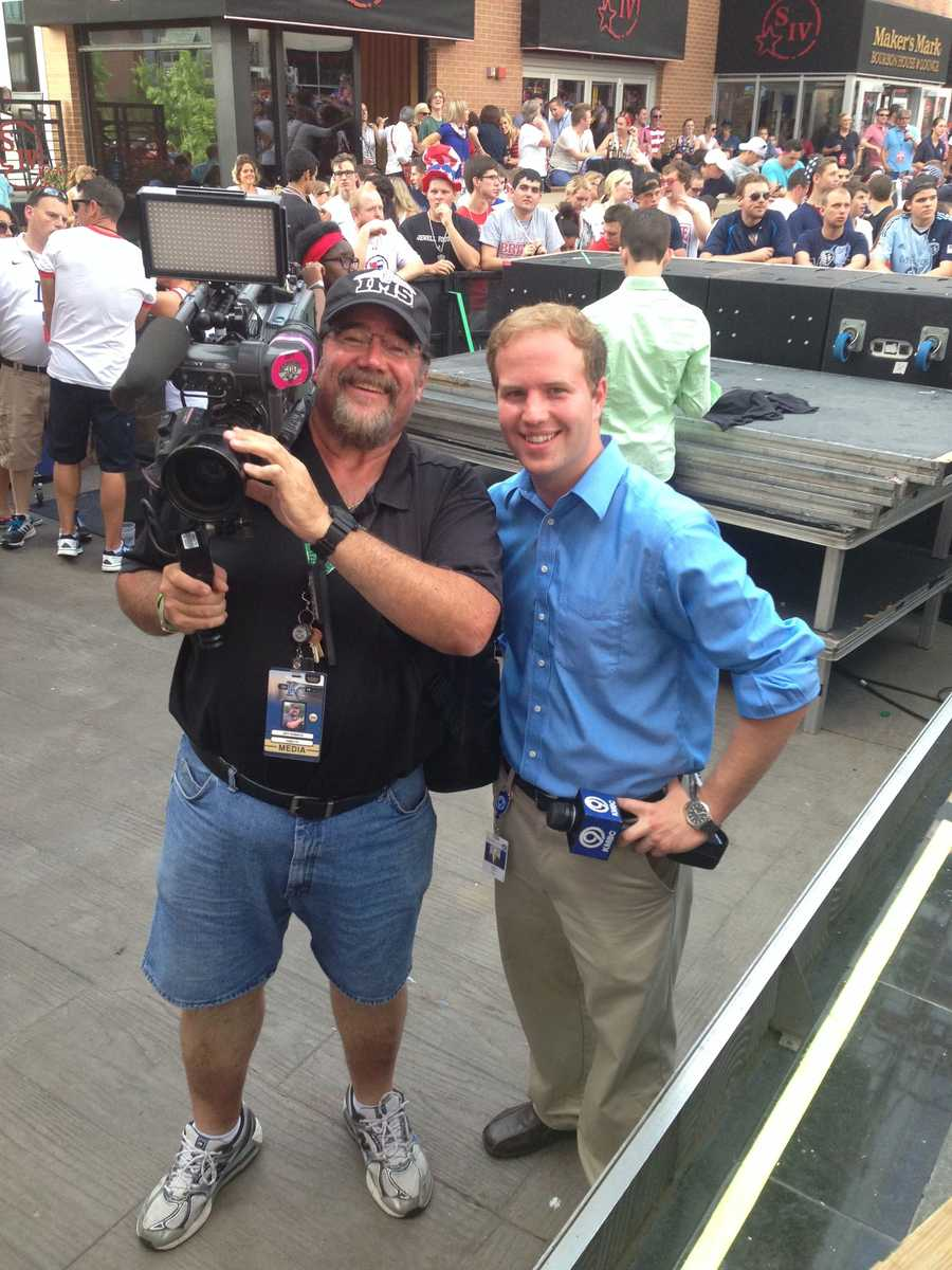 Photographer Jeff Roberts and reporter Matt Evans