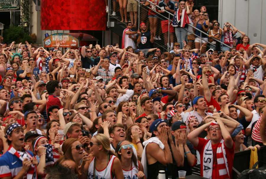 U.S. Soccer fans sweated it out, literally, in the second half.