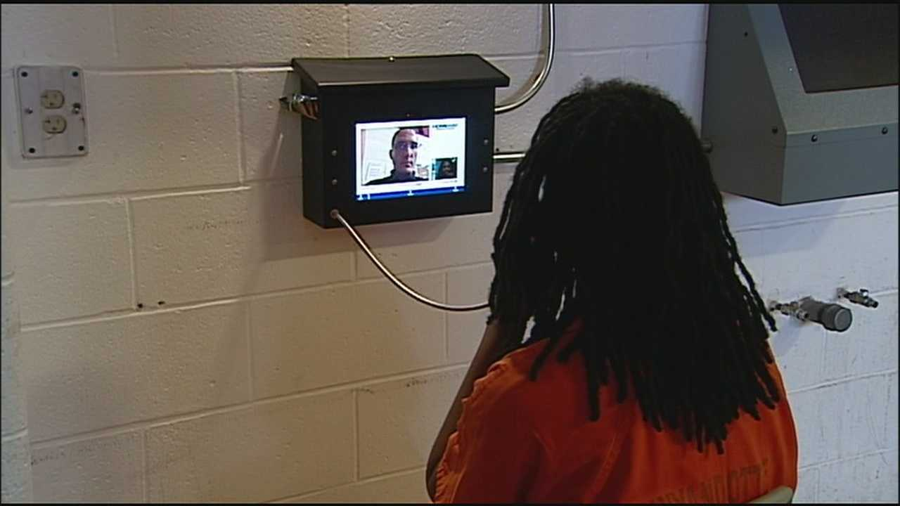 The Wyandotte County Jail has a new option for people to see loved ones who are being held there -- a new video phone connection that has improved security and morale and hasn't cost the county a dime.