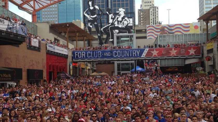 Thousands pack the P&L District to watch US