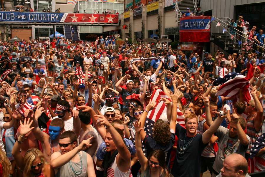 U.S. Soccer fans learn late in its match against Germany that Portugal has defeated Ghana, giving the American team a pass to the next round.
