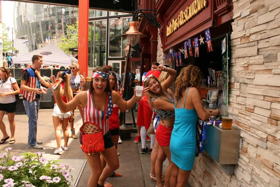 The after-party begins once U.S. Soccer fans learn their team has advanced.